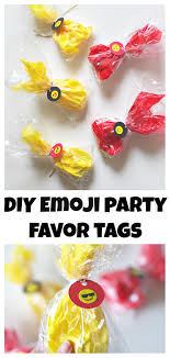 favor tags diy emoji party favor tags val event gal