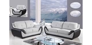 Pics Of Sofa Set U3250 Gr Bl Sofa Set Of 3pc Light Grey Black