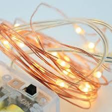 fantado 20 warm white led copper wire micro strand string