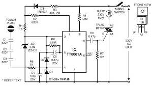 touch control dimmer diagram circuit diagram images