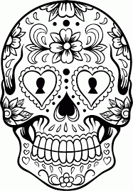 Amazing Chic Sugar Skull Coloring Pages 8 Modern Ideas Hard Coloring Page Of