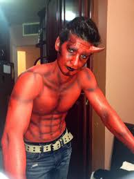 devil halloween make up devil body paint that i did yesterday perfect for halloween
