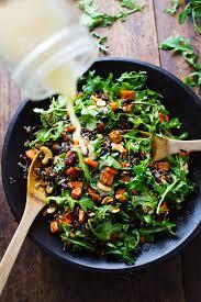 roasted sweet potato rice and arugula salad recipe pinch