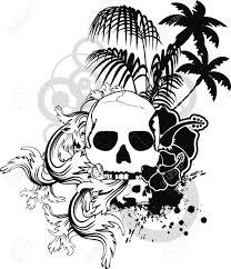 hawaiian skull ornament royalty free cliparts vectors and stock