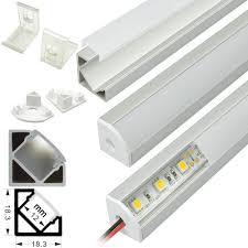 How To Mount Led Strip Lights by Aluminium Extrusion Profile Housing Corner Mount For Flexible Led