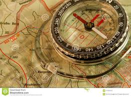Map Compass Orienteering Map And Compass Royalty Free Stock Photo Image