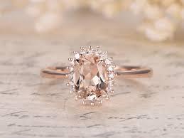ring diana princess diana ring 6x8mm oval vs pink morganite ring 14k
