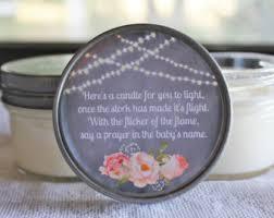 baby shower candle favors twinkle twinkle favor baby shower poem favor