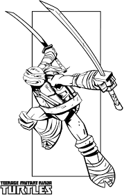 ninja turtle color pages glum