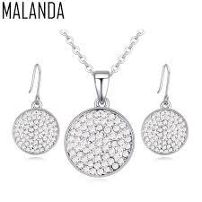 swarovski earring necklace set images Malanda brand crystals from swarovski fashion circle pendants jpg