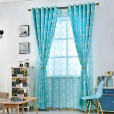 Blue And Yellow Kitchen Curtains by Aqua Kitchen Curtains Home Design Styles