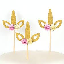unicorn cake topper set of 12 glitter gold unicorn cake topper unicorn horn cupcake