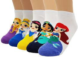disney princess collection socks rapunzel ariel