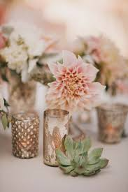 dahlias succulents and mercury glass wedding centerpieces deer