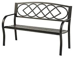 Classic Outdoor Furniture by Amazon Com Plow U0026 Hearth Celtic Knot Patio Garden Bench Park