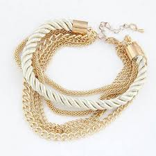 gold multi chain bracelet images Gold tone snake chain red blue black green twist rope bracelet jpg