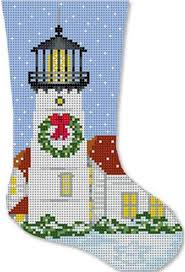 needlepoint handpainted starke art christmas chatham lighthouse