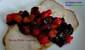 warm fruit compote for thanksgiving at home with vicki bensinger
