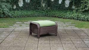 patio furniture seating sets sawyer 6pc resin wicker patio furniture conversation set green