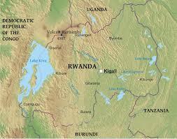 Rwanda World Map by Maps Of Rwanda Bizbilla Com