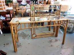 Rattan Console Table Rattan Bamboo Console And Mirror Circa Who