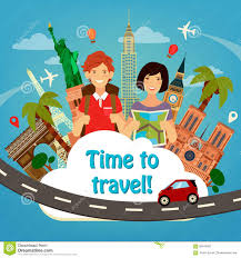 travel industry images Travel banner travel industry tourist man and woman stock vector jpg