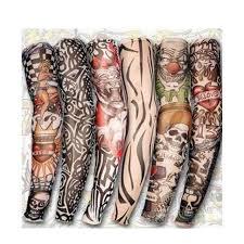 6pcs cool arm sleeves kit creative design tattoos sleeve