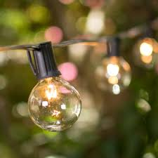 lights strings of light bulbs outdoor globe string lights