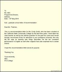 letter of recommendation for elementary student templatezet