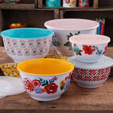 halloween serving bowls the pioneer woman country garden nesting mixing bowl set 10 piece