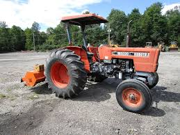kubota m6030 utility tractor w flail mower runs mint video m