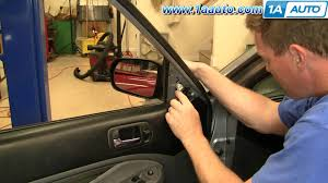 how to install replace side rear view mirror honda civic 01 05