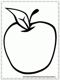 apple fruit coloring pages printable free printable kids