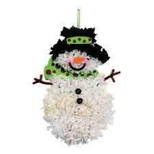 maybe for next years holiday party tissue paper snowman craft kit