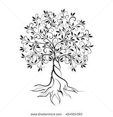 tree tattoo illustration vector stock vector 549735076 shutterstock