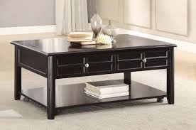 homelegance carrier cocktail table with lift top on casters dark