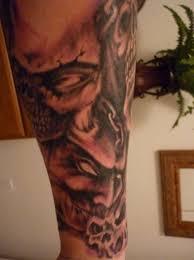 skulls tattoos on left sleeve ideas in 2017