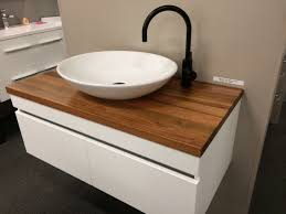 Phoenix Bathroom Vanities by Rifco Platinum Wall Hung Vanity 1200mm With Timber Top In