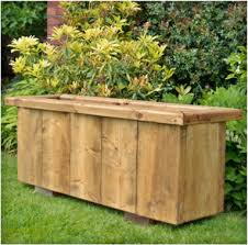 rustic large wooden planter 1190 narrow