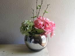 Large Round Glass Vase Large Round Mercury Glass Ball Vase Silver Bubble Vase Fish B