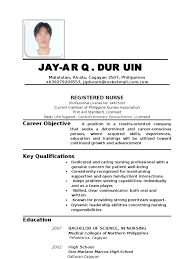 Resume For Abroad Sample by Sample Resume For Registered Nurse In Philippines Augustais