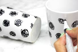 Cool Mugs by Diy Black U0026 Gold Mug Set A Little Craft In Your Day