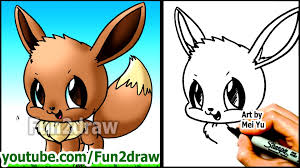 how to draw pokemon characters eevee fun2draw style youtube