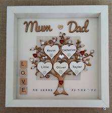 40th wedding anniversary gift personalised handmade ruby 40th wedding anniversary gift frame