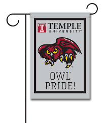 University Flags Temple University Owl Pride Officially Licensed Garden Flag