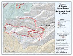 Mt Washington Trail Map by Snowmobile Trail Maps Washington State Parks And Recreation