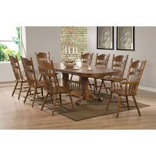 Oval Dining Table And Chairs Coaster Furniture 104271 Brooks Oval Dining Table In Oak With