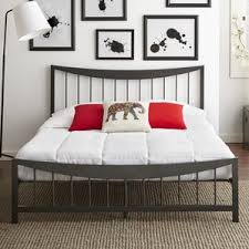 Iron Platform Bed Modern Metal Beds Allmodern