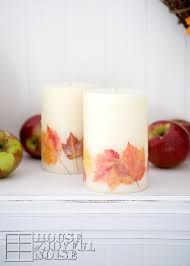 themed candles fall themed candles embedding real leaves