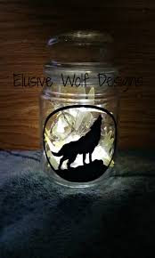 howling wolf ambiance lighted jar wolf night light jar wolf